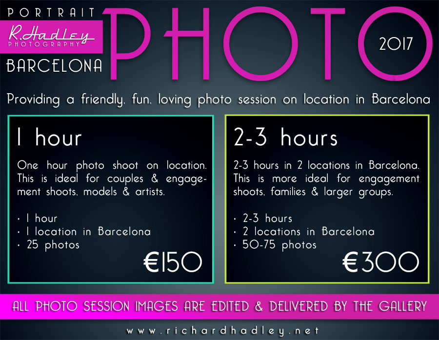 photo sessions and engagment photographer in Barcelona prices
