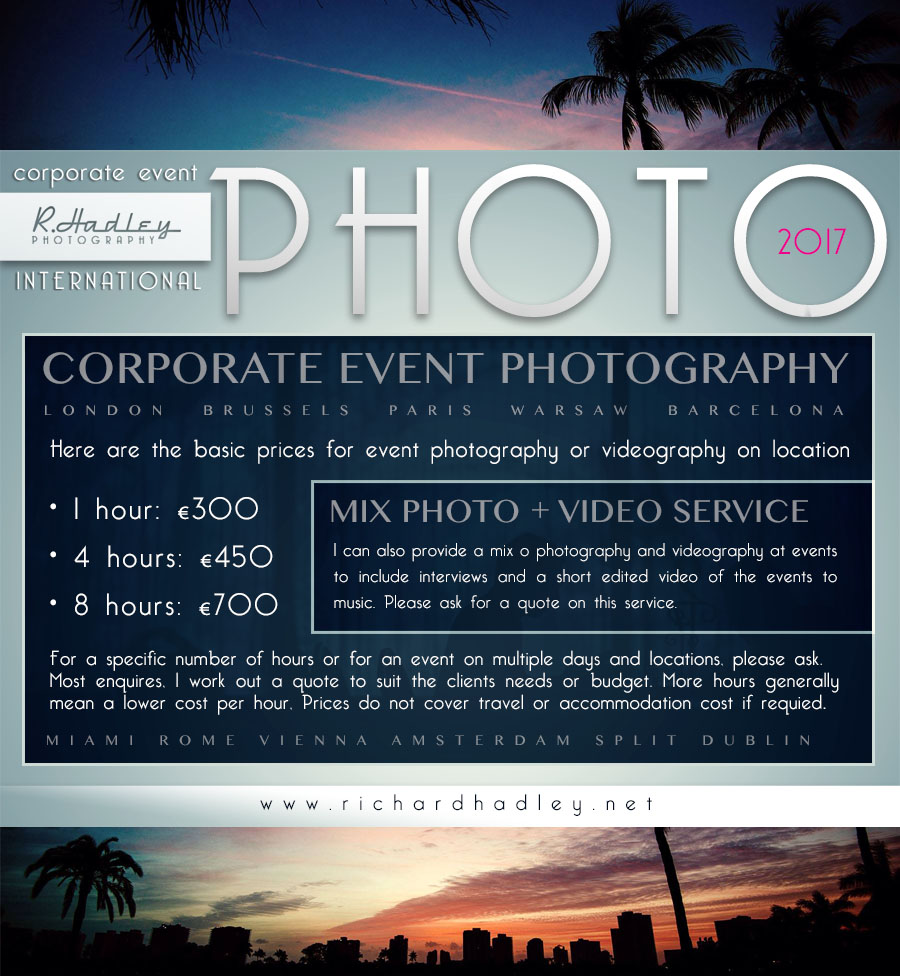 Congress and corporate event photographer in Barcelona, Madrid, Paris, Brussels.