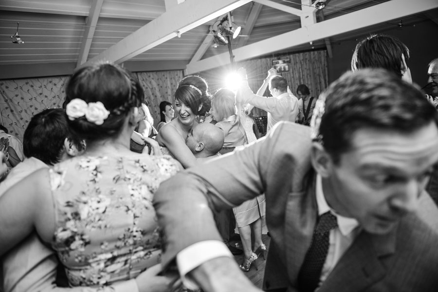 Wedding couple on the dance floor at Woodside in Kenilworth.