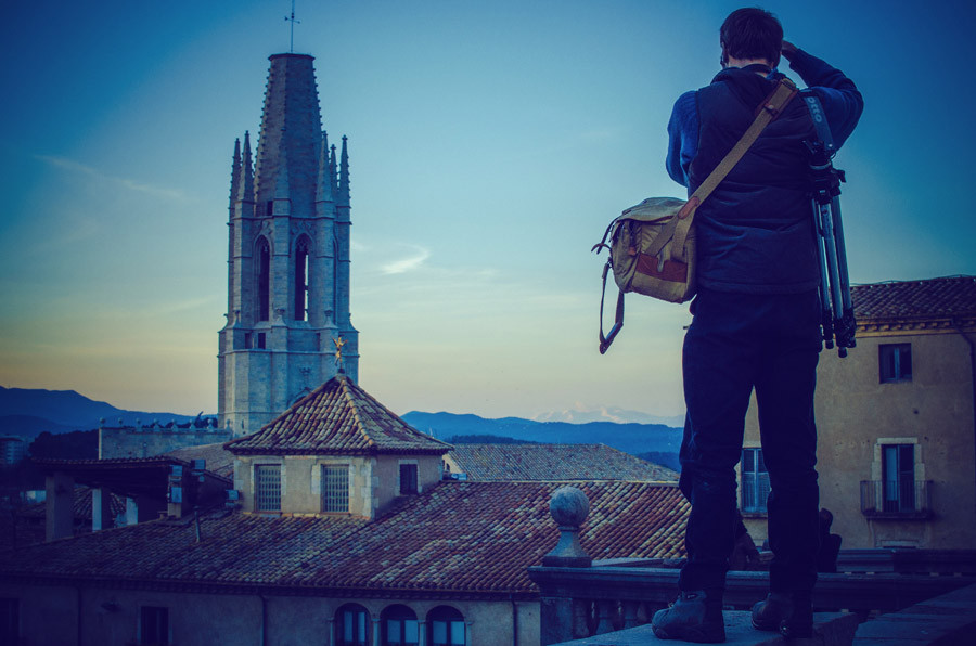 Ben Evans in Girona with Fuji X-e1