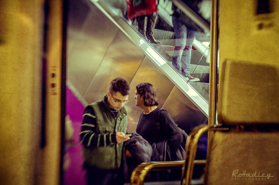 Barcelona underground. Photographed by Richard Hadley with lensbaby