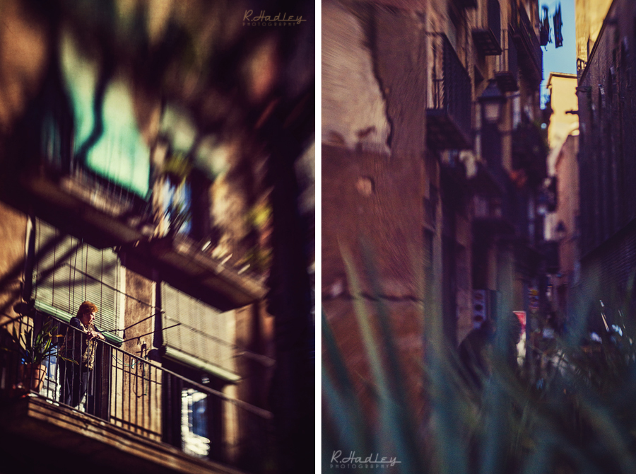 Barcelona el Born area, Barcelona. Photographed by Richard Hadley with lensbaby