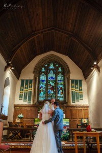 Wedding at St. James Church in Weddington, Warwickshire