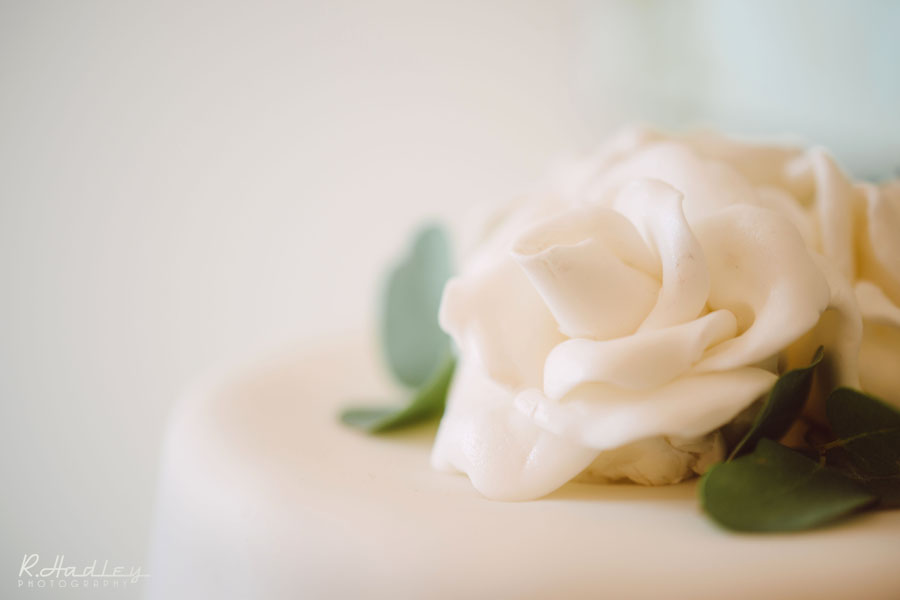 homemade wedding cake with 167 handcrafted sugar roses