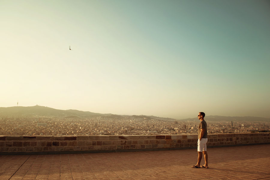 Portrait session at Montjuic Castle in Barcelona