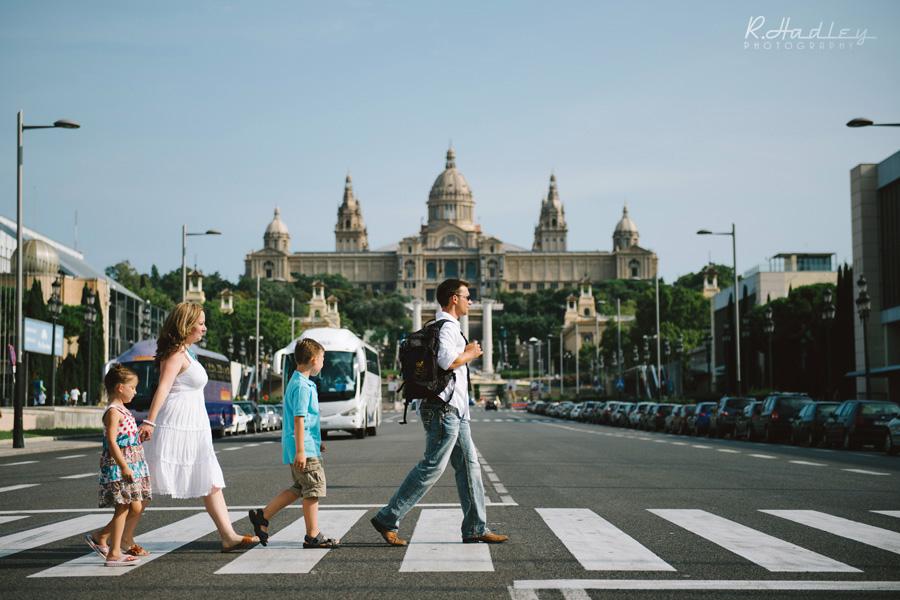 Barcelona portrait in Montjuic
