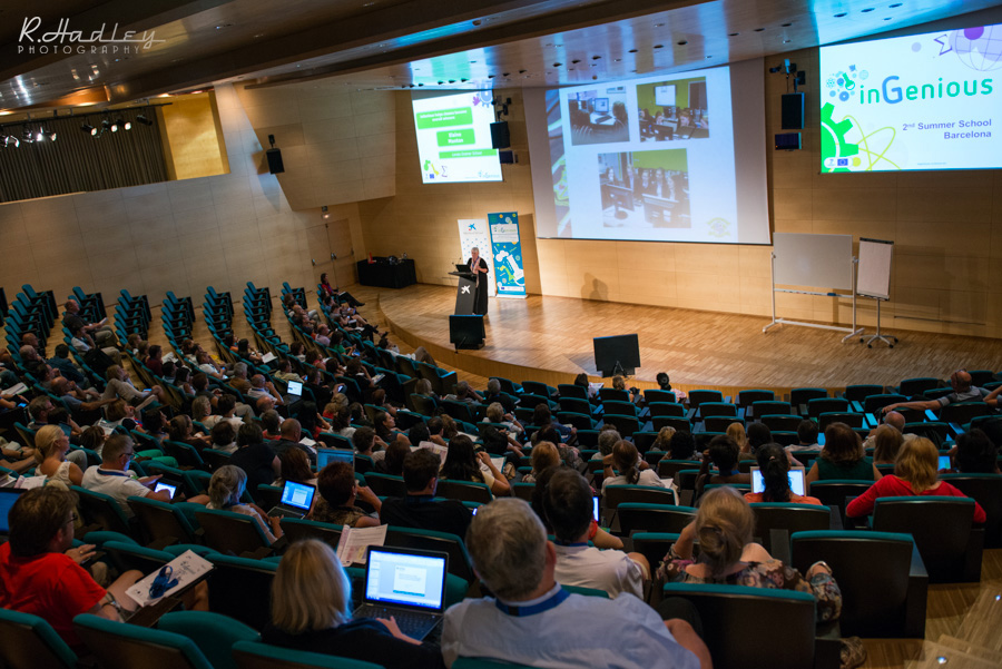 Photography coverage of theEuropean Schoolnet event at the Caixa Cosmos, Barcelona, Spain