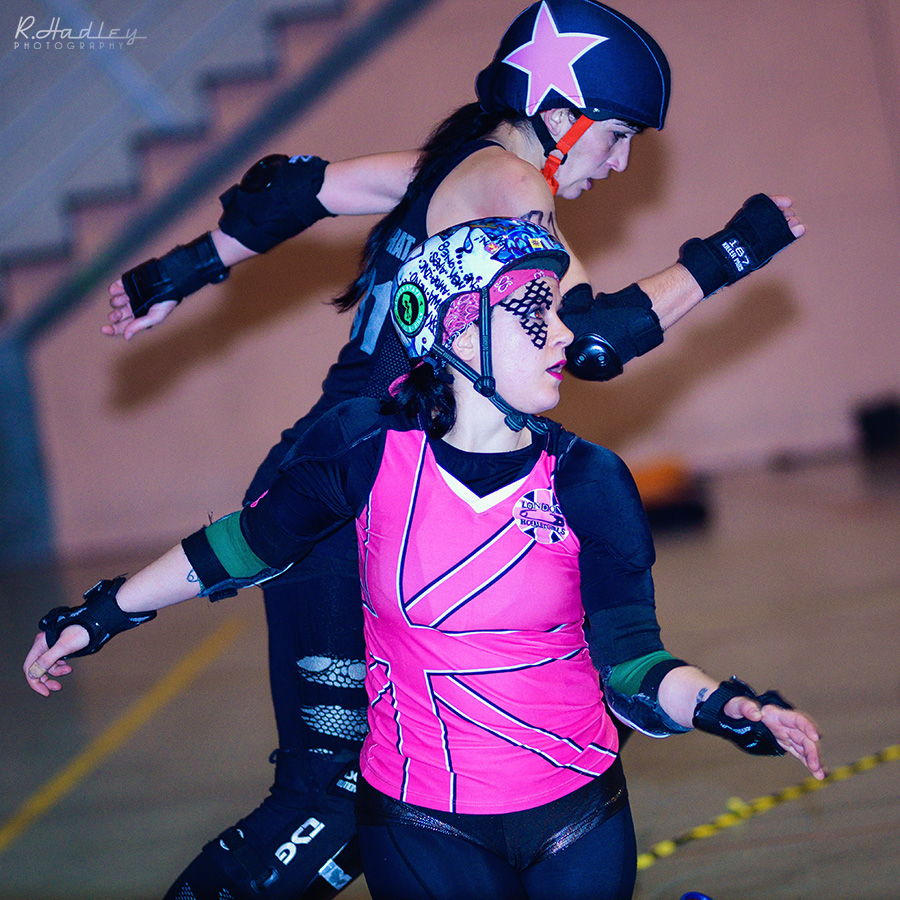 Barcelona Roller Derby and London Rollergirls game 2014