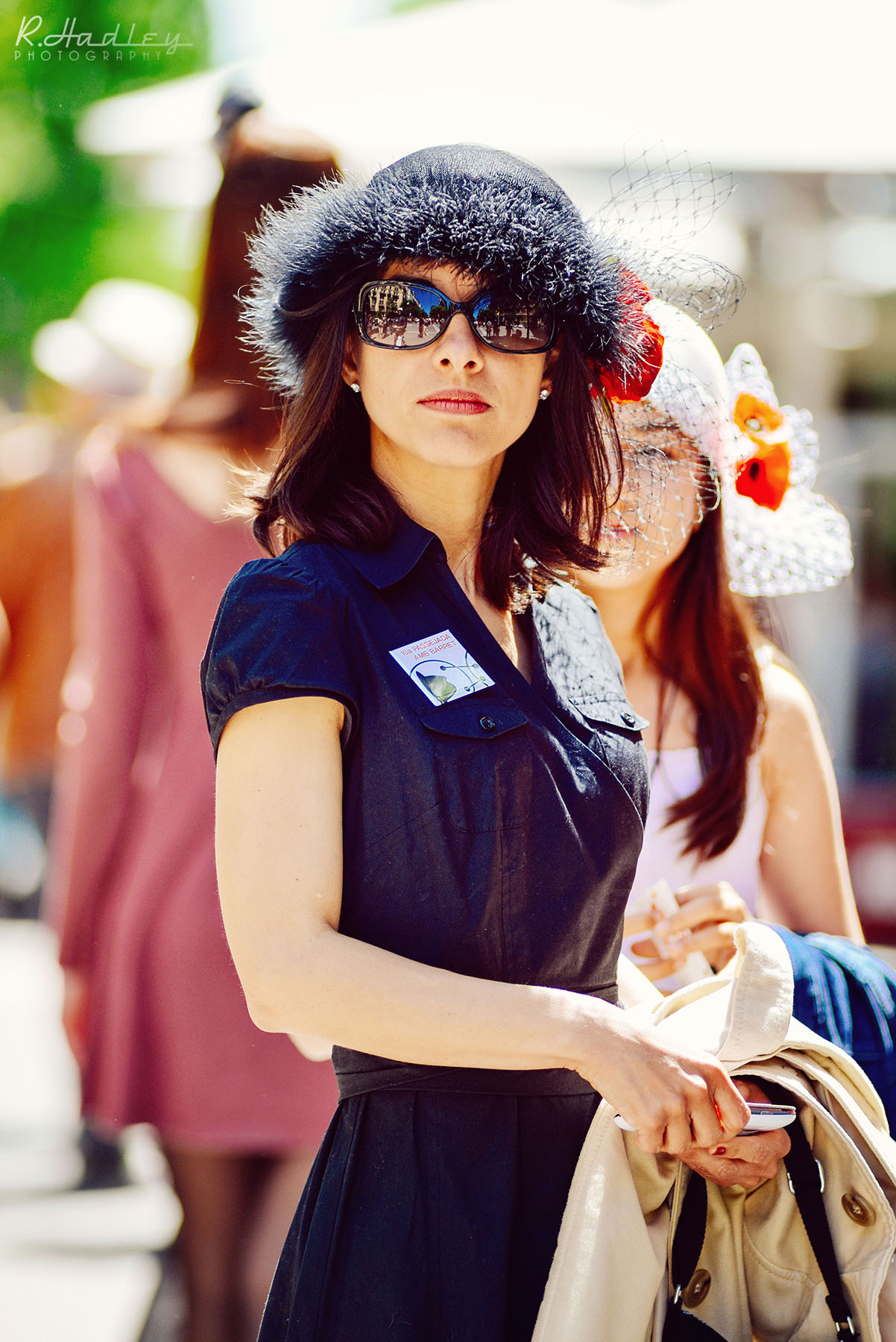 Portrait of Zahira Ortiz in Barcelona at the hat parade 2014