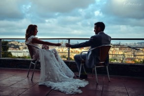 Wedding of Timmy and Sarah at Santa Anna Church and Restaurant Mirabe, Barcelona.