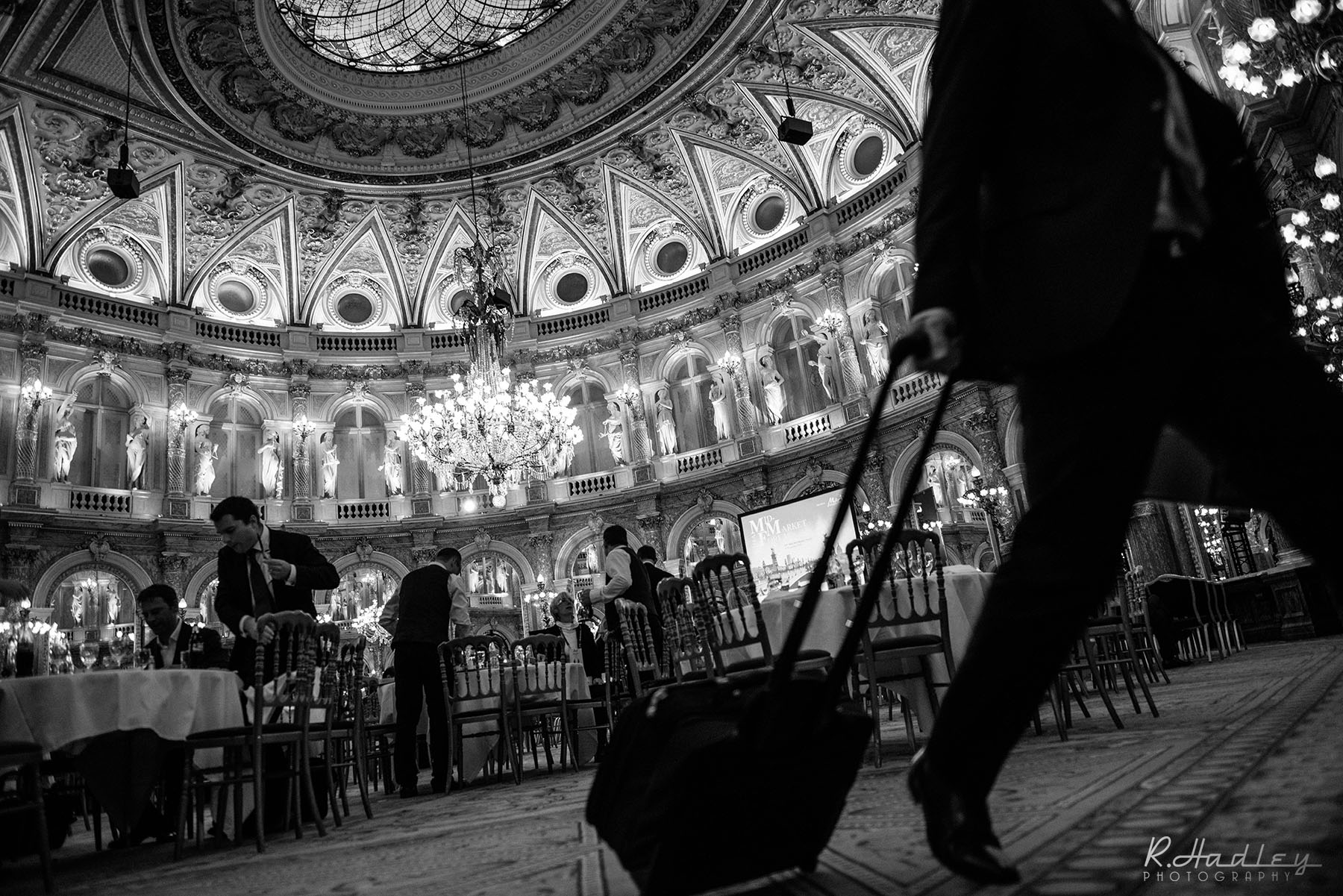 Corporate event photographer at Le Grand Hotel in Paris