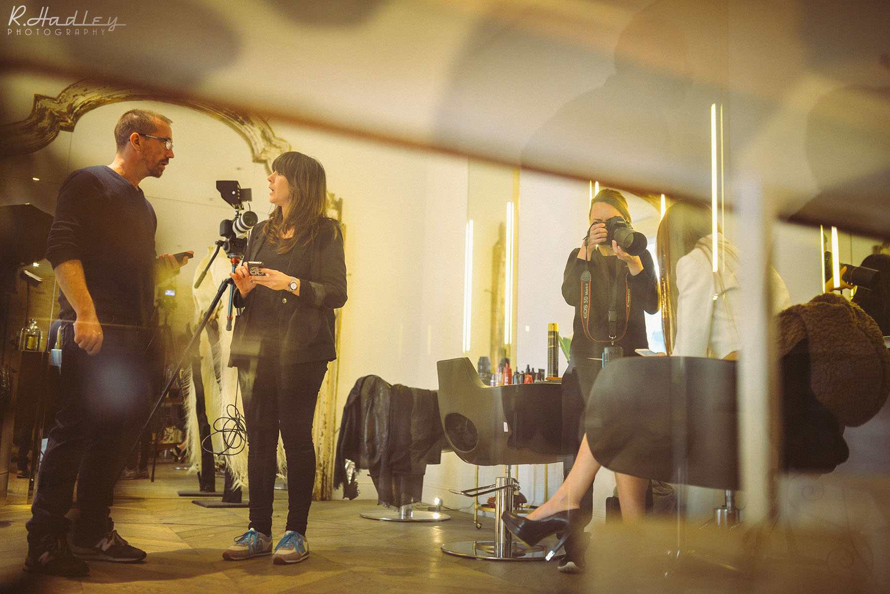 On Set Photographer for Carolina De Santis film production at Salon Toro, Barcelona