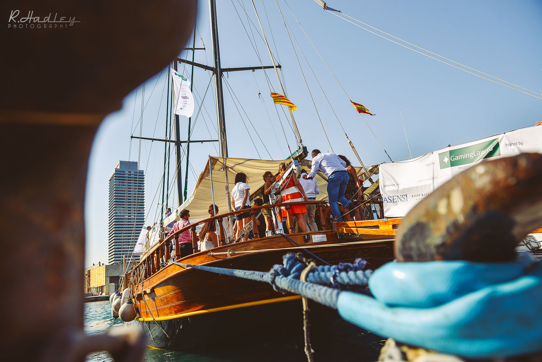 Corporate Event on a sail boat in Barcelona