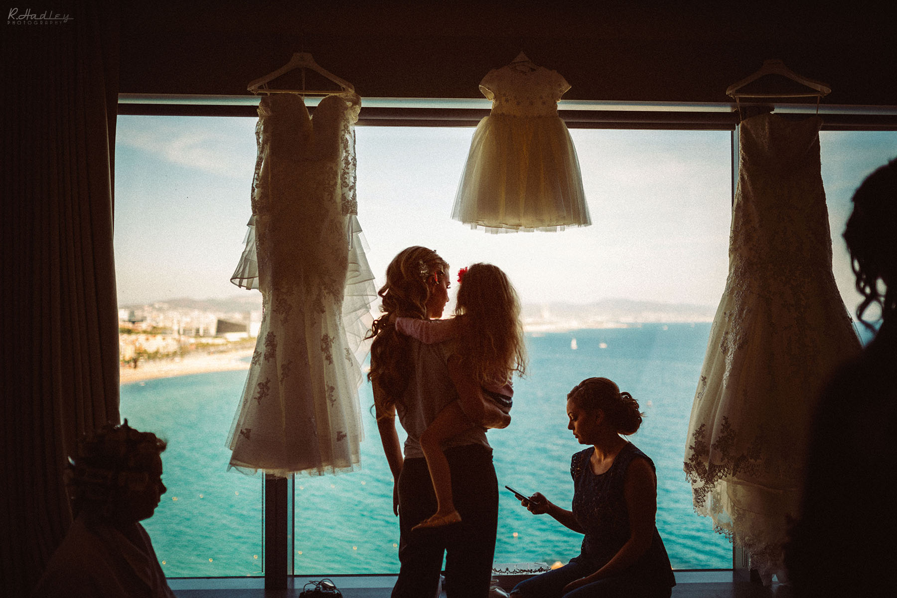 Wedding preparation at the W hotel in Barcelona, Spain.