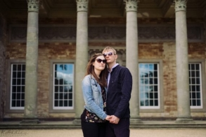 Engagement photo shoot before the wedding at Compton Verney House, Warwickshire.