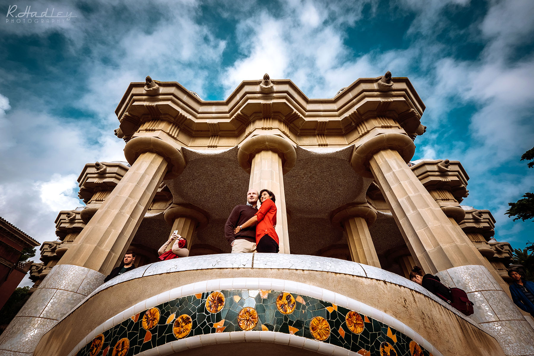 Wedding Engagement Shoot at Park Guell in Barcelona
