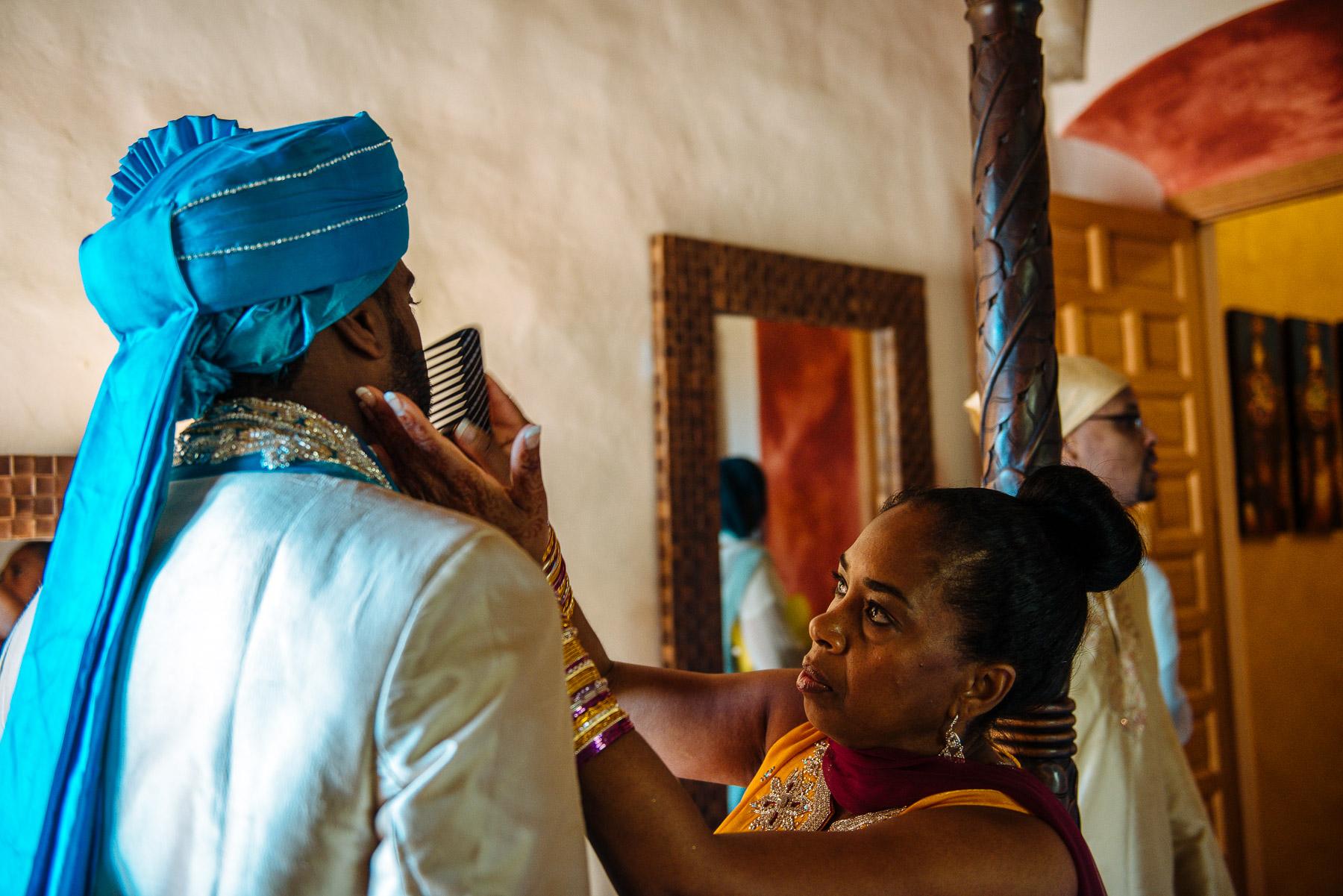Hindu wedding at Almiral de la Font, Sitges, Barcelona.
